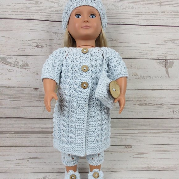 """Handmade 18"""" A. G. & O. G. Dolls Knitted Clothes"""